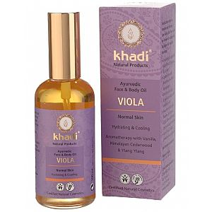 Aceite facial y corporal Violeta (piel normal) Khadi 100 ml.