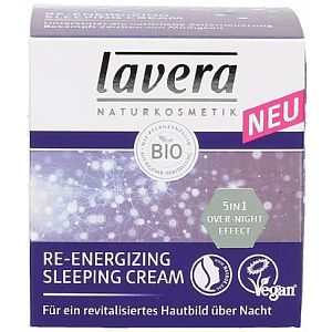 Crema reparadora nocturna Lavera Reenergizing Sleeping Cream 50 ml.