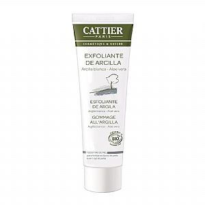 Exfoliante facial arcilla blanca Cattier 100 ml.