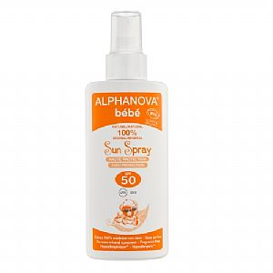 Spray solar SPF50 bebé Alphanova 125 ml.