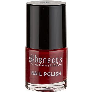 Mini esmalte Benecos 8-FREE Cherry Red 5 ml.